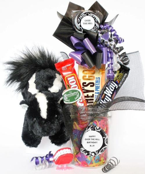 Over The Hill Birthday Candy Bear Bouquet P.U. Spraymore