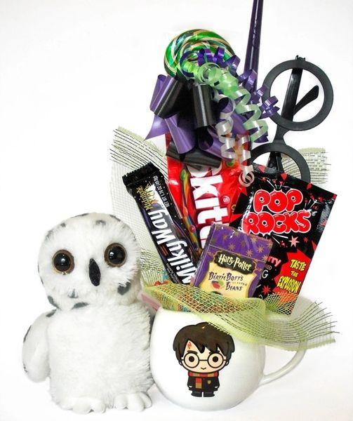 Harry Potter Candy Bear Bouquet Little Powder Owl w/ Harry Potter Character Mug