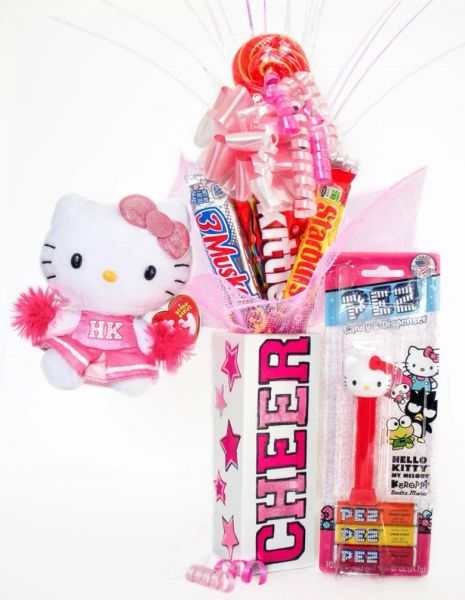 Hello Kitty Cheerleader Candy Bear Bouquet