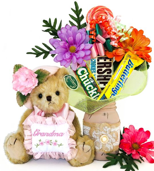 Grandparents Day | Mother's Day | New Grandmother Candy Bear Bouquet Greatest Grandma