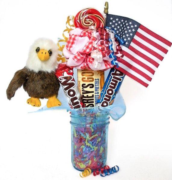 Soar the Eagle Candy Bear Bouquet