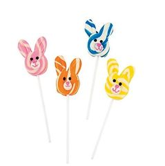 Bunny Swirl Lollipop - ADD TO CANDY BEAR BOUQUET