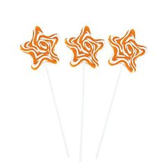 Gold Star Swirl Lollipop - ADD TO CANDY BEAR BOUQUET
