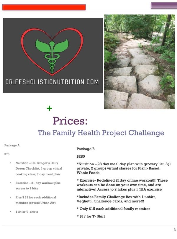 The Family Health Project Challenge -Payment Option