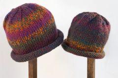 Child Adult Hat Rolled Brim Beanie Color: REGAL