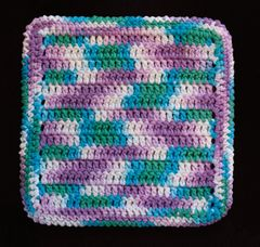 100% Cotton Hand Crocheted Dishcloth Washcloth Rag Color: BEACH BALL