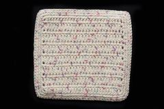 100% Cotton Hand Crocheted Dishcloth Washcloth Rag Color: POTPOURRI