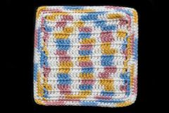 100% Cotton Hand Crocheted Square Pot Holder Hot Pad Doily Trivet Color: KITCHEN BREEZE