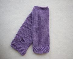 Fingerless Mitts Lavender