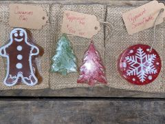 Holiday Gift Soaps with Burlap bag