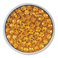 Ginger Snaps TOPAZ-TONED SUGAR SNAP Interchangeable Jewelry Snap Accessory