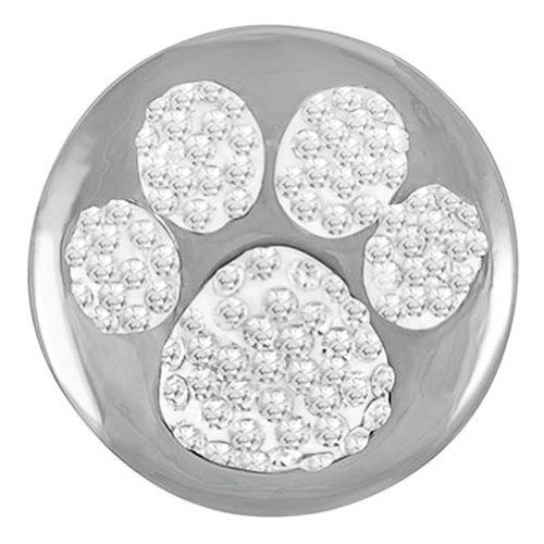 Ginger Snaps PAW PRINT SUGAR SNAP Interchangeable Jewelry Snap Accessory