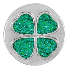 Ginger Snaps SHAMROCK SUGAR SNAP Interchangeable Jewelry Snap Accessory