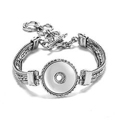 Ginger Snaps 1 Snap Multi Chain Bracelet (Standard Size) Interchangeable Jewelry