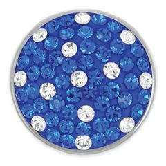 Ginger Snaps TEAM BLUE & WHITE SUGAR SNAP Interchangeable Jewelry Snap Accessory