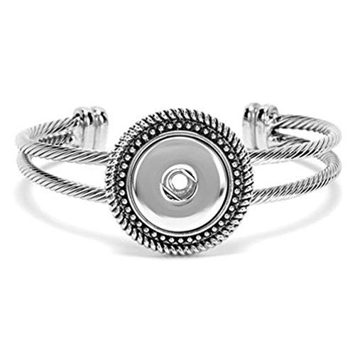 Ginger Snaps 1 Snap Rope Open Bangle Bracelet