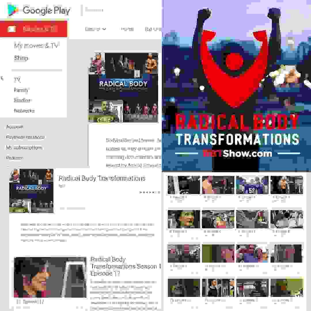 "Amazon Prime TV Show ""Radical Body Transformations"" continues to expand released on Google Play."