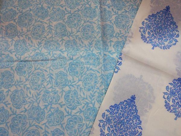 Exclusive Block Printed Kurta Palazo Pant Mughal Butta Fabric Only BP36