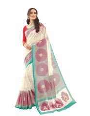Off white Bhagalpuri Printed light work Saree SC1908
