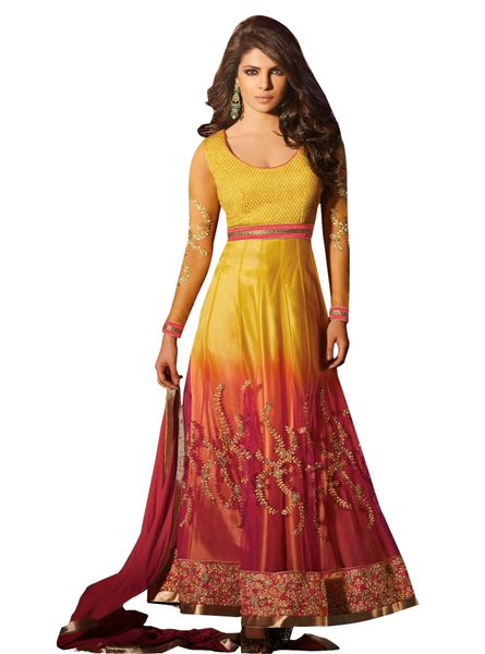 Priyanka Chopra Exclusive Yellow Anarkali SC5028