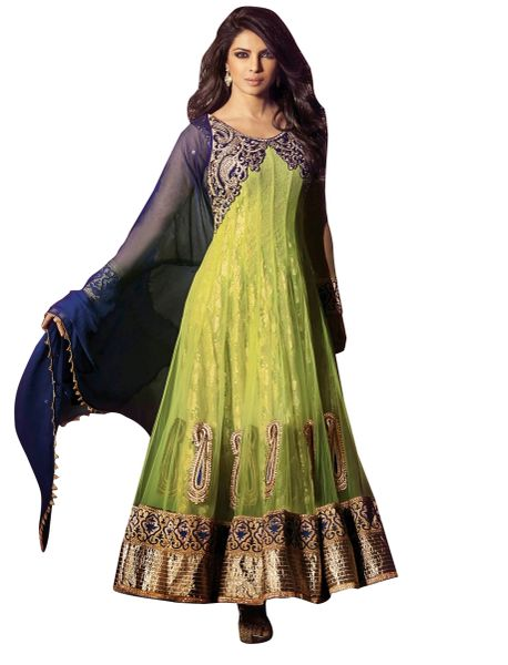 Priyanka Chopra Exclusive Green Anarkali SC5031