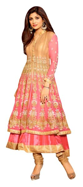 Shilpa Shetty Exclusive Pink Anarkali SC6011