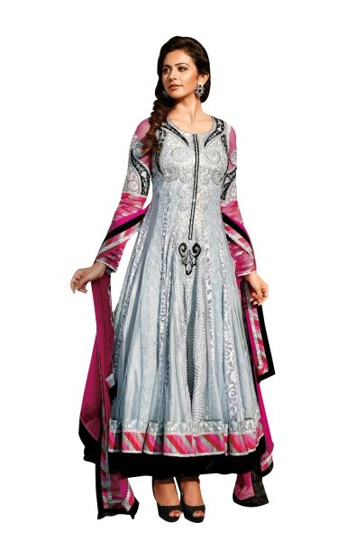 Rakulpreet Grey Semi Stitched Anarkali SC7292