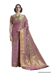 Mauve Two Tone Silk Saree