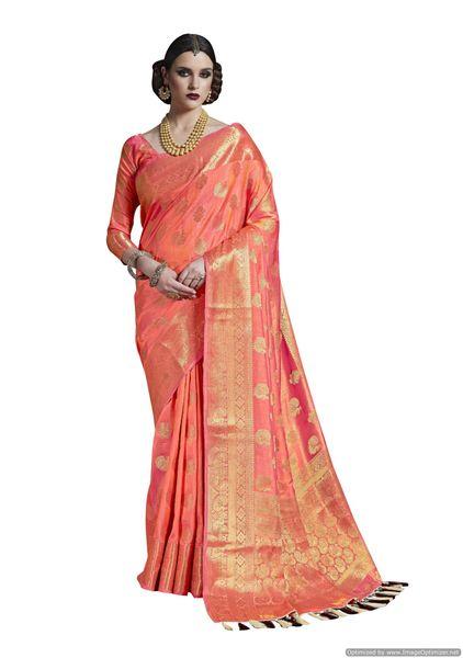 Pink Two Tone Silk Saree