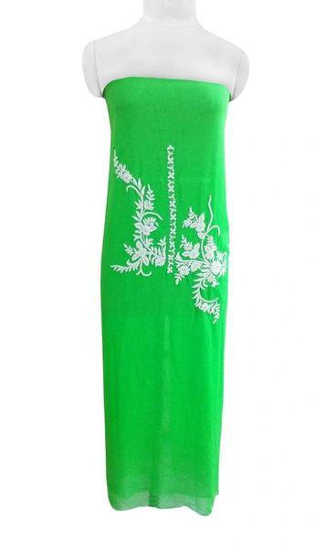 Jaipuri Pearl Hand Work Green Georgette Kurti Kurta Fabric GP48