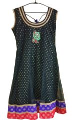 Black Net with Lining Embroidered kurta