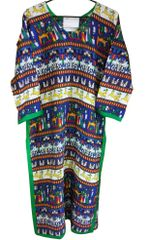 Multi Cotton Printed Long Kurta