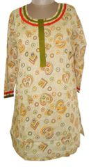 Beige Cotton Kurta (Plus Size_3XL)