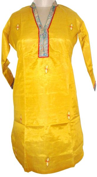 Golden Tussar Silk Top