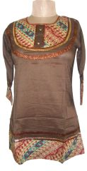 Brown Cotton Top