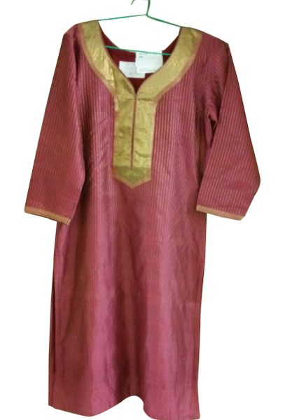 Onion Pink Cotton Silk Kurta