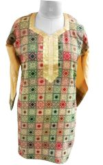 Multi Cotton Jequard Weave Kurta