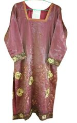 Onion Tissue with Lining Semi Stitched Kurta