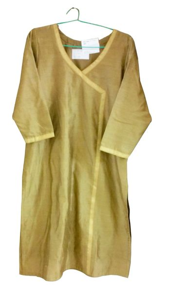 Golden Beige Chanderi Cotton Kurta