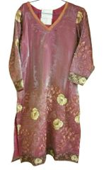 Pink Onion Tissue Kurta