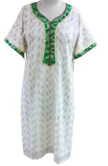 Off White Chiffon Self Embroidered Semi-Stitched Kurta (Plus Size_3XL)