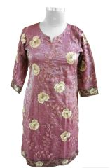 Onion Pink Tissue with Lining Kurta