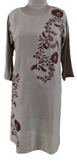 Designer Semi Stitched Light Brown Pakistani Embroidered Kurti Kurta Tunic PK08