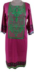Designer Semi Stitched Pink Pakistani Embroidered Kurti Kurta Tunic PK07