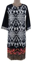 Designer Semi Stitched Black Pakistani Embroidered Kurti Kurta Tunic PK02