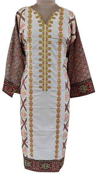 Designer Pakistani Mahi Zara Semi Stitched Embroidered Long Kurta Kurti ZS3B