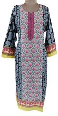 Designer Pakistani Mahi Zara Semi Stitched Embroidered Long Kurta Kurti ZS2B