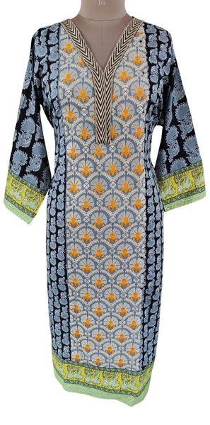 Designer Pakistani Mahi Zara Semi Stitched Embroidered Long Kurta Kurti ZS2A