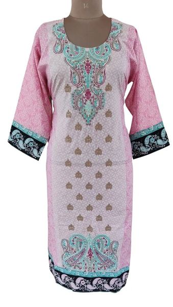 Designer Pakistani Mahi Zara Semi Stitched Embroidered Long Kurta Kurti ZS1B