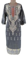 Designer Pakistani Mahi Zara Semi Stitched Embroidered Long Kurta Kurti MS5B